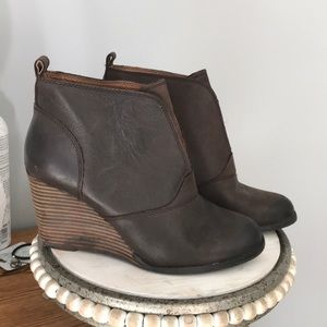 Lucky brand wedge bootie